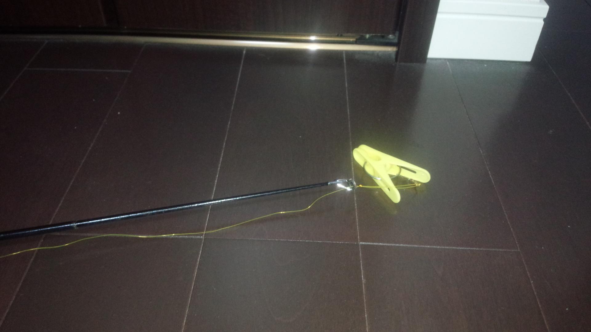 洗濯バサミと竿