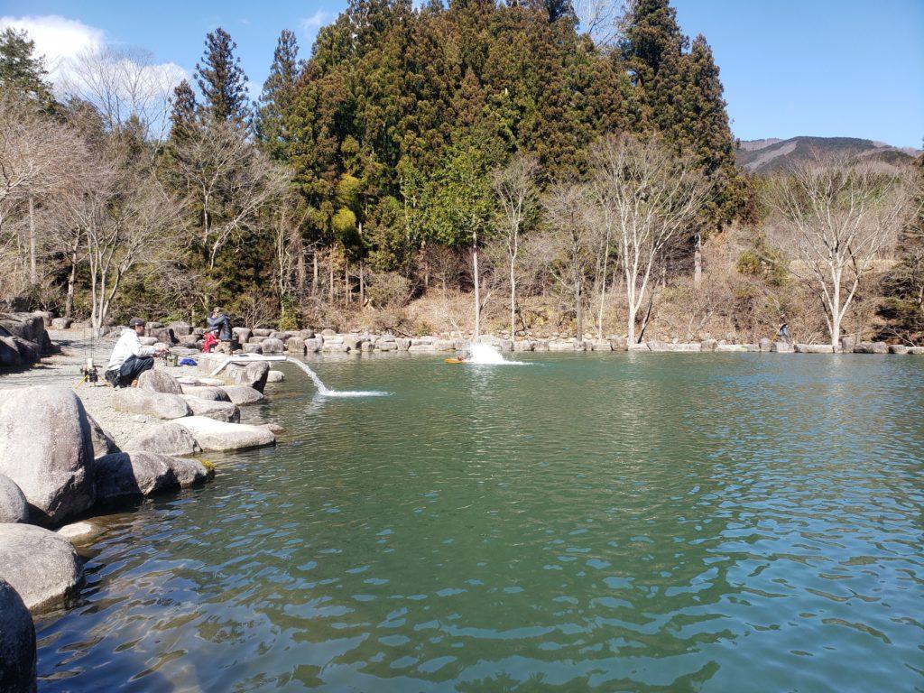 夏の管理釣り場
