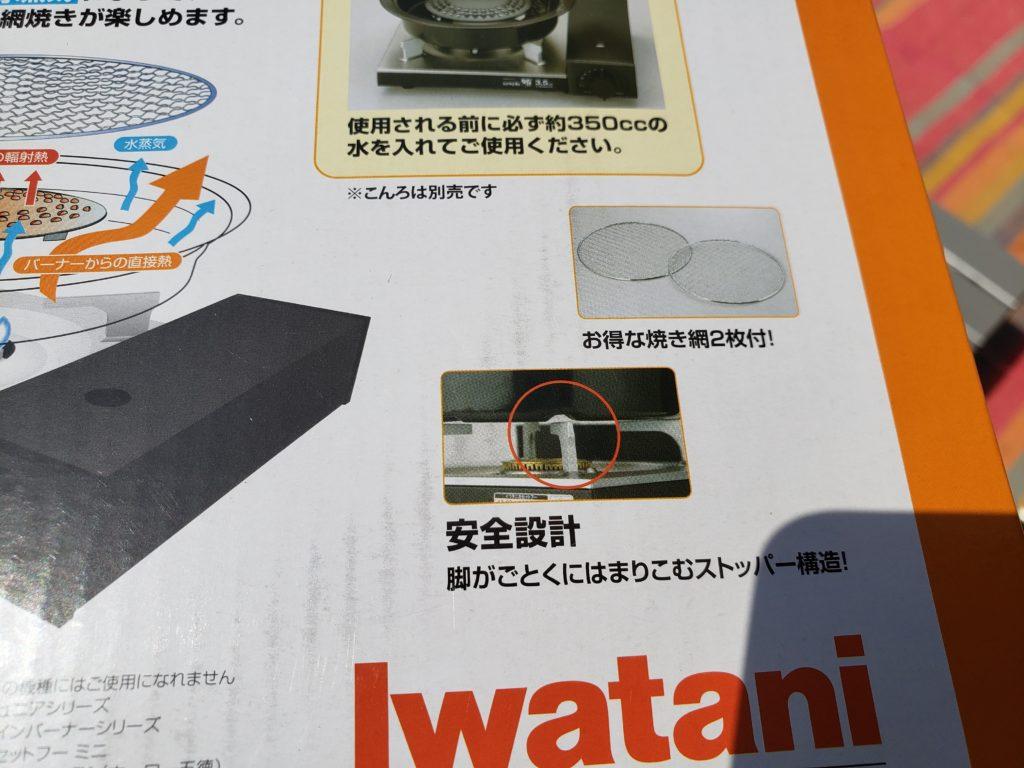 イワタニの網焼きプレートの説明図