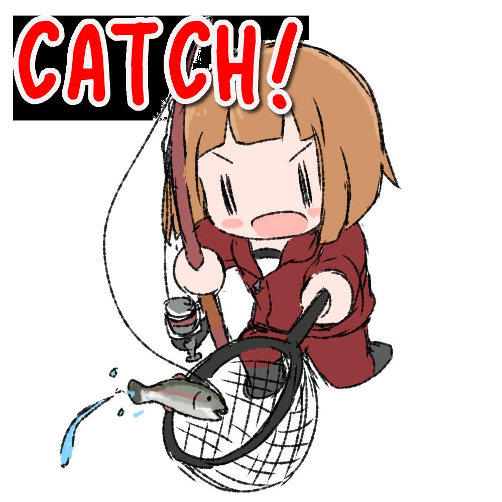 魚を釣る女の子