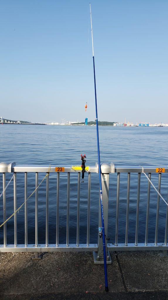 若洲海浜公園長竿