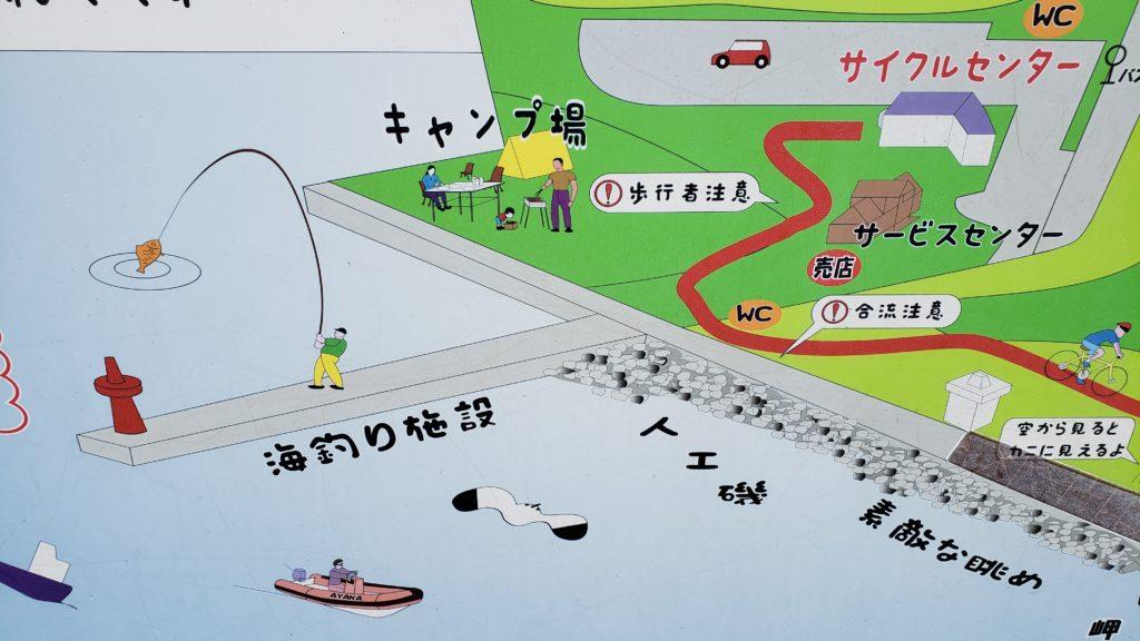 若洲海浜公園釣り場全貌図